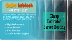 Cheapest Dedicated Server Hosting Plans with SSL Safe Guard- Onlive Infotech